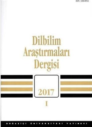 Dilbilim Araştırmaları Dergisi 2017-1 resmi