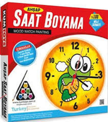 Ahşap Saat Boyama resmi